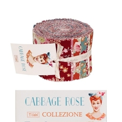 "Tilda Fabric Roll 24 pz ""Cabbage Rose"""