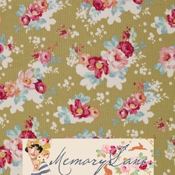 """Tilda 110 Flowercloud Olive """"Memory Lane"""""""