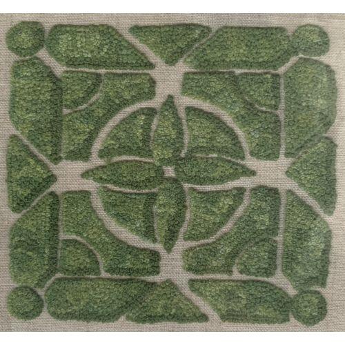 Labyrinthe, Schema Ricamo con Tela di Lino Stampata