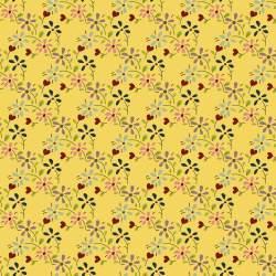 EQP Tomorrow's Heritage - Summer Meadow Daffodil, Tessuto Giallo Narciso con Prato Fiorito