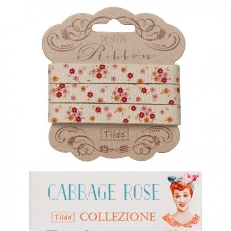 Tilda ribbon set 10 mm Cabbage Rose 3pz