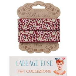 Tilda ribbon 20 mm Tess Red Cabbage Rose