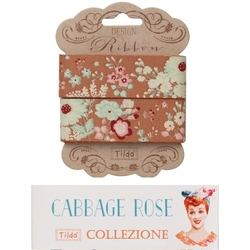 Tilda ribbon 25 mm Lucille Ginger Cabbage Rose