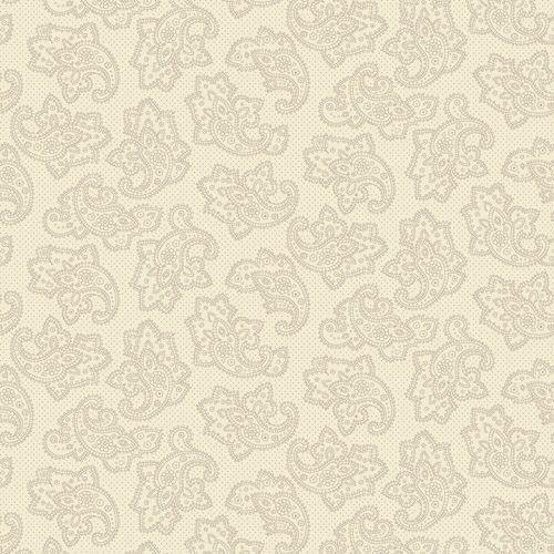 Henry Glass Gratitude & Grace by Kim Diehl, Tessuto Panna con Disegno Damascato
