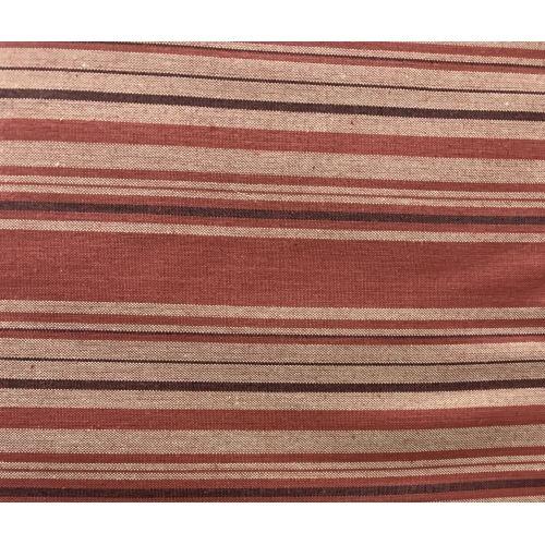 Marcus Fabrics Classic Wovens, Tessuto Tinto in Filo a Righe Beige Rosso e Marrone