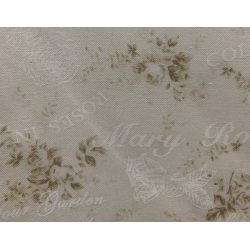 Quilt Gate Mary Rose Collection, Tessuto Panna con Fiori Beige