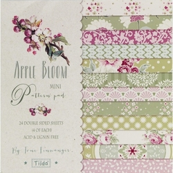 "Tilda Mini Pattern Pad ""Apple Bloom"" 24 fogli doppi"