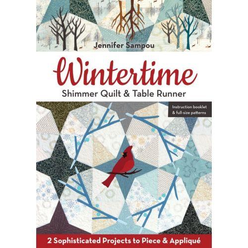 Wintertime, Shimmer Quilt & Table Runner by Jennifer Sampou