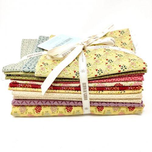 Live, Love, Quilt! - Kit di Tessuti EQP - Collezione Tomorrow's Heritage, per progetto Quilt Along - Opzione 2