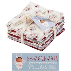 "Tilda Fat Quarter Bundle ""Sweetheart"" 9 pz"