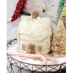 Lacy Wool Cookie House Pincushion - Crabapple Hill