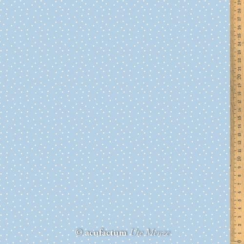 Acufactum Tessuto di cotone Azzurro a Pois