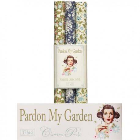 Tilda fogli di tessuto autoadesivo 3pz - A3 Pardon my Garden