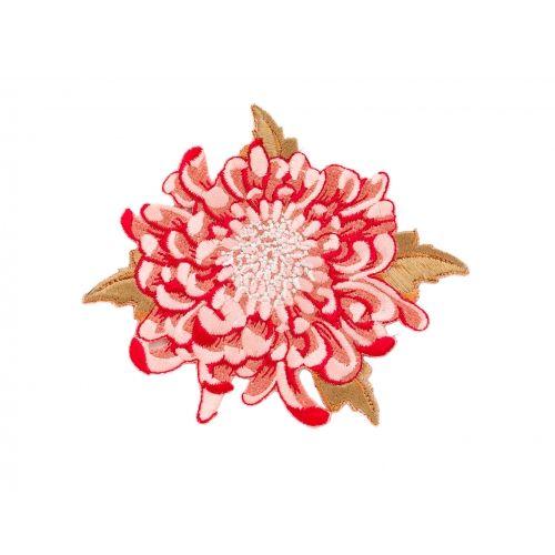 Tilda Fiore Ricamato per Appliquè, colore Rosso