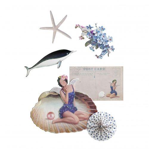 Tilda Sagome, Tags e Mini Cartoline a tema Marino