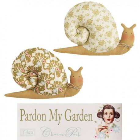 Tilda kit Garden Snails Pardon my Garden 2pz