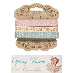Tilda ribbon set 10 mm Spring Diaries 3pz