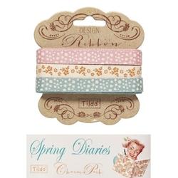 """Tilda ribbon set 10 mm """"Spring Diaries"""" 3pz"""