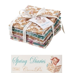 "Tilda Fat Quarter Bundle ""Spring Diaries"" 9 pz"