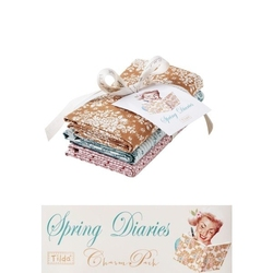Tilda Fat Quarter Bundle Spring Diaries extras 3 pz