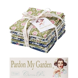 "Tilda Fat Quarter Bundle ""Pardon my Garden"" 9 pz"