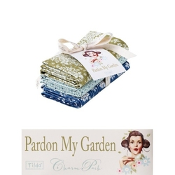 "Tilda Fat Quarter Bundle ""Pardon my Garden"" extras 3 pz"