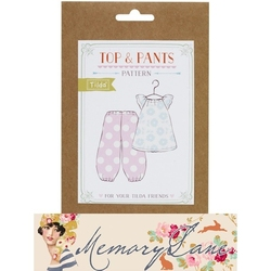 Tilda Friends pattern Top & Pants Memory Lane