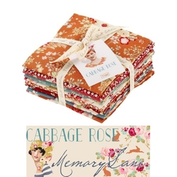 "Tilda Fat Quarter Bundle ""Cabbage Rose"" 9 pz"