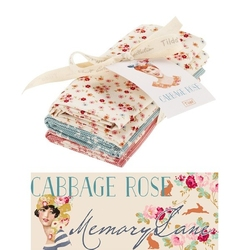 "Tilda Fat Quarter Bundle ""Cabbage Rose"" extras 3 pz"