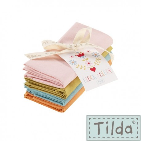 Tilda Fat Quarter Bundle Cabbage Rose 4 pz