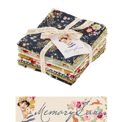 "Tilda Fat Quarter Bundle ""Memory Lane"" 9 pz"
