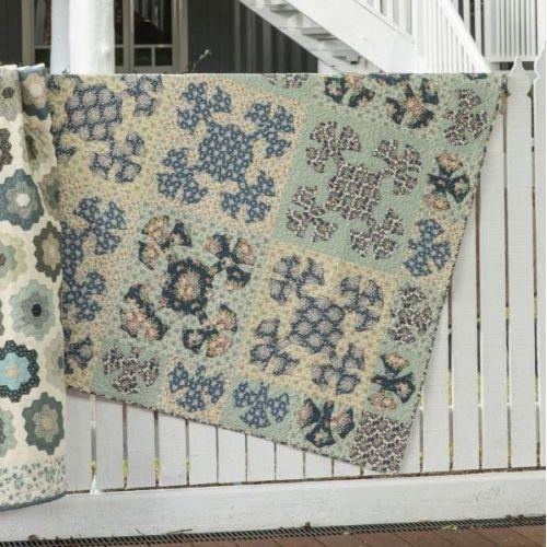 Cara Fleur Quilt, Make it Blue - Kit di Tessuti