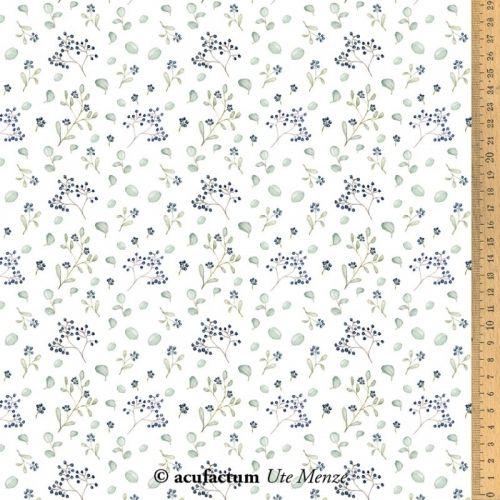 Acufactum Tessuto di cotone con Bacche Blu