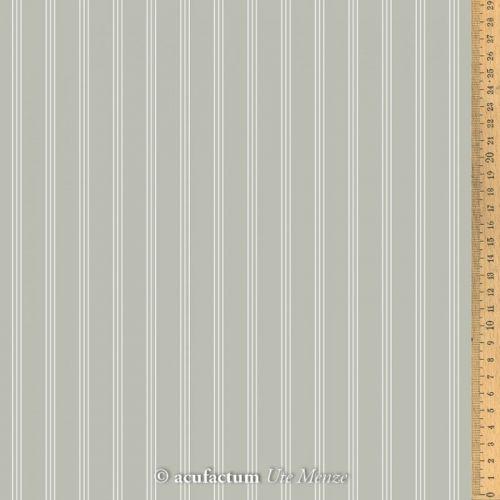Acufactum Tessuto di cotone con Righe Grigie