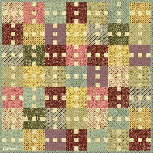 Quilt Summer Breeze 177 x 177 cm, Ellie's Quiltplace - Kit di Tessuti