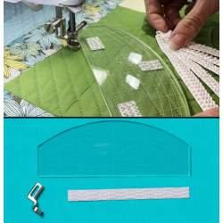 Starter kit - piedino ad attacco basso per trapuntare e righello