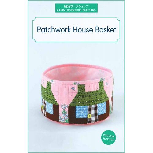 Patchwork House Basket, Kit di Tessuti Giapponesi
