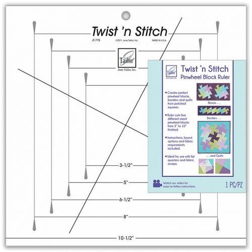 Squadretta Twist n'Stitch Ruler di June Tailor, Mascherina per tagliare con precisione