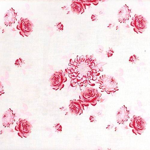 Tilda Tessuto con Fiori Rosa, 140 cm di altezza