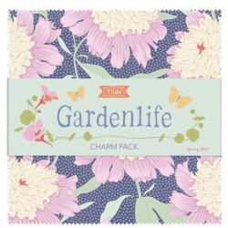 Tilda Gardenlife Charm Pack, 40 Quadrati 12.5 x 12.5 cm - Collezione Intera (2 cad.)