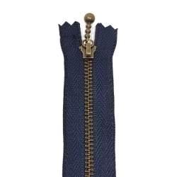 Cerniera Zip Giapponese in metallo - Blu