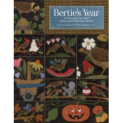 Bertie's Year - 12 Fast-and-Easy Quilts from a Little Wool and Flannel by Bonnie Sullivan - Martingale