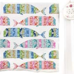 Whale Quilt - Kit di Tessuti per il Quilt delle Balene