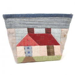 Patchwork House Pouch - Kit di Tessuti Giapponesi