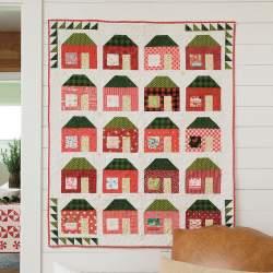 Merry Little House dal libro Pat Sloan's Holiday Celebrations - Kit di Tessuti