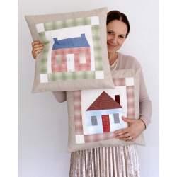 Patchwork House Pillows - Kit di Tessuti Giapponesi per due Cuscini