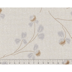 26th Centenary Collection by Yoko Saito, Tessuto Beige con Rami e Fiori