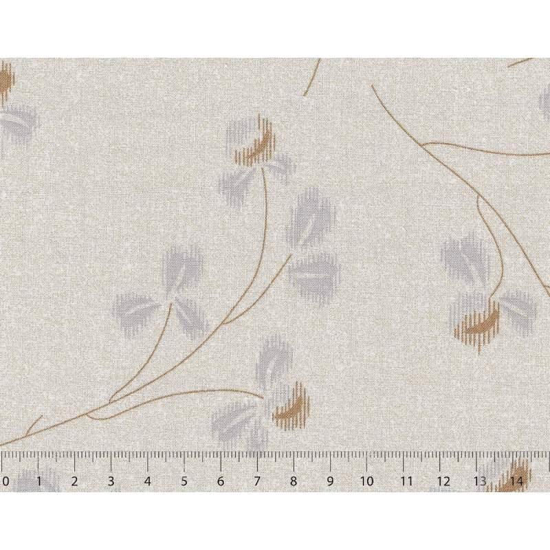 26th Centenary Collection by Yoko Saito, Tessuto Beige con Rami e Fiori Stim Italia srl - 1
