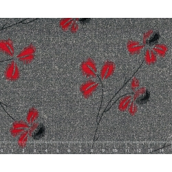 26th Centenary Collection by Yoko Saito, Tessuto Nero con Rami e Fiori