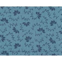 26th Centenary Collection by Yoko Saito, Tessuto Azzurro con Disegni